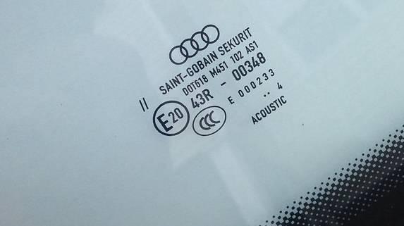 acosutic windshield identification